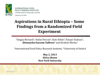 Aspirations in Rural Ethiopia – Some Findings from  a Randomized Field Experiment