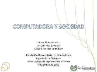COMPUTADORA Y SOCIEDAD