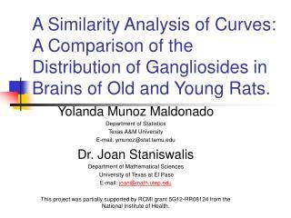 Yolanda Munoz Maldonado Department of Statistics Texas A&M University E-mail: ymunoz@stat.tamu