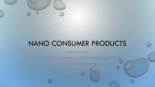 Nano  Consumer products