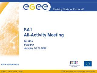 SA1 All-Activity Meeting