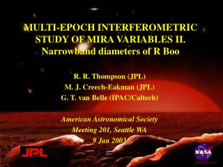 MULTI-EPOCH INTERFEROMETRIC STUDY OF MIRA VARIABLES II. Narrowband diameters of R Boo