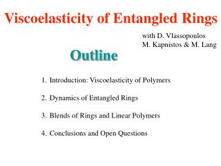 Viscoelasticity of Entangled Rings