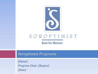 Soroptimist Programs