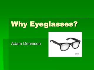 Why Eyeglasses?