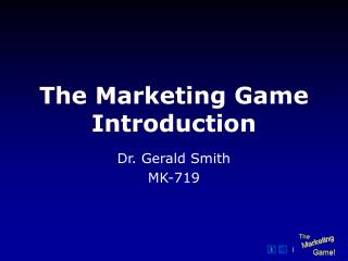 The Marketing Game Introduction