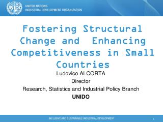 Fostering Structural Change and  Enhancing Competitiveness in Small Countries