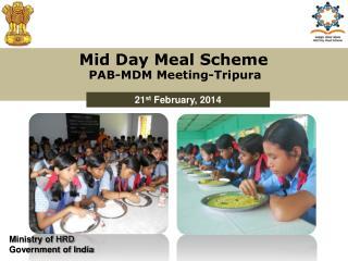 Mid Day Meal Scheme PAB-MDM  Meeting-Tripura
