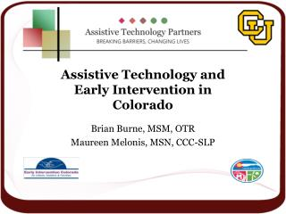 Assistive Technology and Early Intervention in Colorado