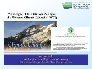 Spencer Reeder Washington State Department of Ecology