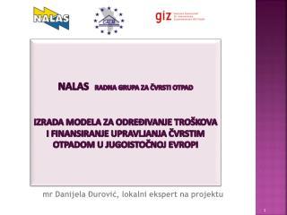 mr Danijela Đurović , lokalni  ekspert  na projektu