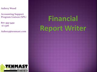 Financial  Report Writer