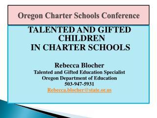 Oregon Charter Schools Conference
