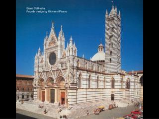 Siena Cathedral, Façade design by Giovanni Pisano