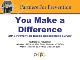 Prevention Needs Assessment Survey – 2013