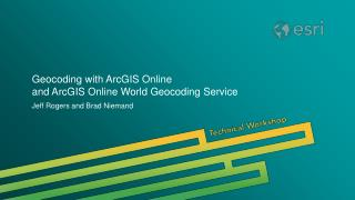 Geocoding with ArcGIS Online  and ArcGIS Online World Geocoding Service