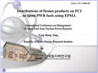 Distributions of fission products on PCI  in spent PWR fuels using EPMA
