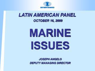 LATIN AMERICAN PANEL OCTOBER 16, 2009