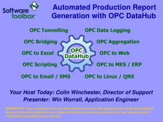Automated Production Report Generation with OPC DataHub