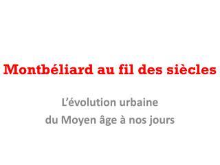Montbéliard au fil des siècles