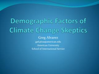 Demographic Factors of Climate Change Skeptics