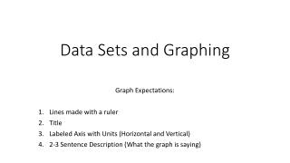 Data Sets and Graphing