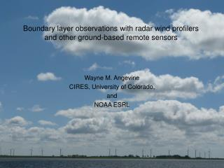 Boundary layer observations with radar wind profilers and other ground-based remote sensors