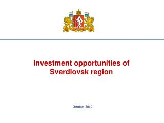 Investment opportunities of Sverdlovsk region