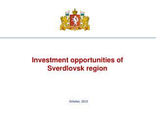Investment opportunities of Sverdlovsk region
