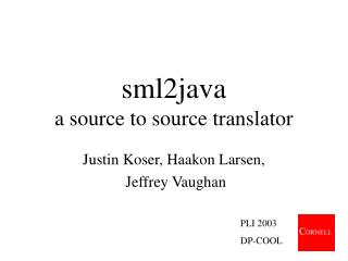 sml2java a source to source translator