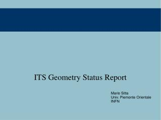 ITS Geometry Status Report