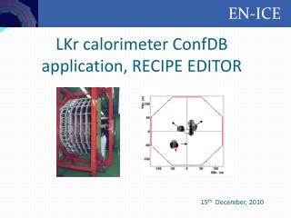 LKr calorimeter ConfDB application, RECIPE EDITOR