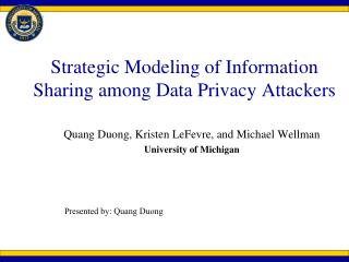 Strategic Modeling of Information Sharing among Data Privacy Attackers