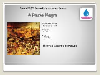 Escola EB2/3 Secundária de Águas Santas        A Peste Negra Trabalho realizado por: