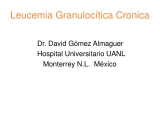 Leucemia Granulocítica Cronica