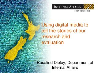 Using digital media to tell the stories of our research and evaluation