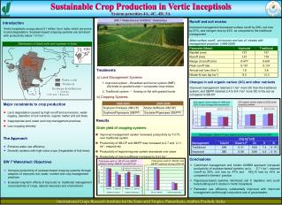 Sustainable Crop Production in Vertic Inceptisols System priorities 4A, 4C, 4D, 3A