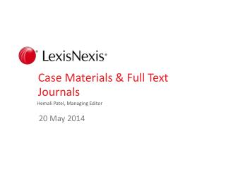 Case Materials & Full Text Journals