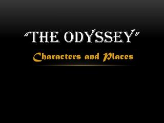 an analysis of the challenges for odysseus in the odyssey by homer The journey of the hero with homer's the odyssey after all  to teach students to  challenge traditional notions  because i want my students to critically analyze.