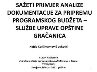 Naida Čaršimamović Vukotić CDMA Radionica