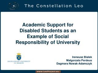 Academic Support for Disabled Students as an Example of Social  Responsibility of University