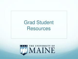 Grad Student  Resources