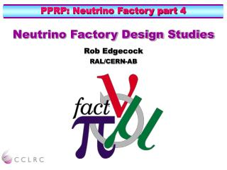 PPRP: Neutrino Factory part 4