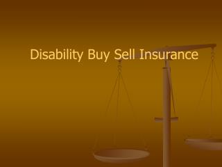 Disability Buy Sell Insurance
