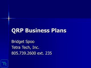 QRP Business Plans