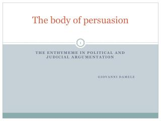 The body  of persuasion