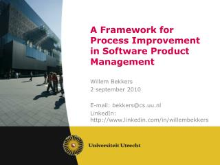 A Framework for Process Improvement in Software Product Management