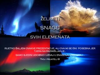 �elim Ti SNAGU svih elemenata