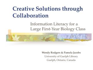 Creative Solutions through Collaboration