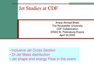 Jet Studies at CDF